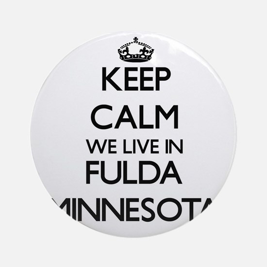 Keep calm we live in Fulda Minnes Ornament (Round)
