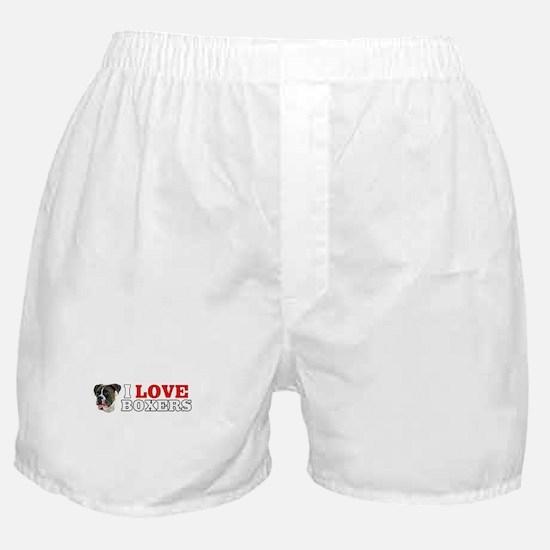 I Love Brindle Boxers Boxer Shorts