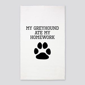 My Greyhound Ate My Homework Area Rug