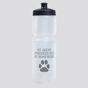 My Great Pyrenees Ate My Homework Sports Bottle
