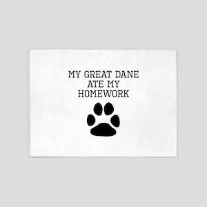 My Great Dane Ate My Homework 5'x7'Area Rug