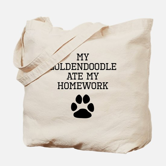 My Goldendoodle Ate My Homework Tote Bag