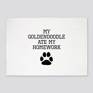 My Goldendoodle Ate My Homework 5'x7'Area Rug