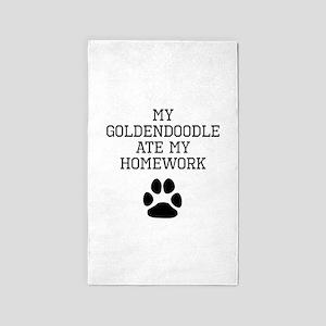 My Goldendoodle Ate My Homework Area Rug