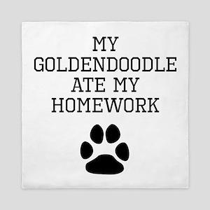 My Goldendoodle Ate My Homework Queen Duvet