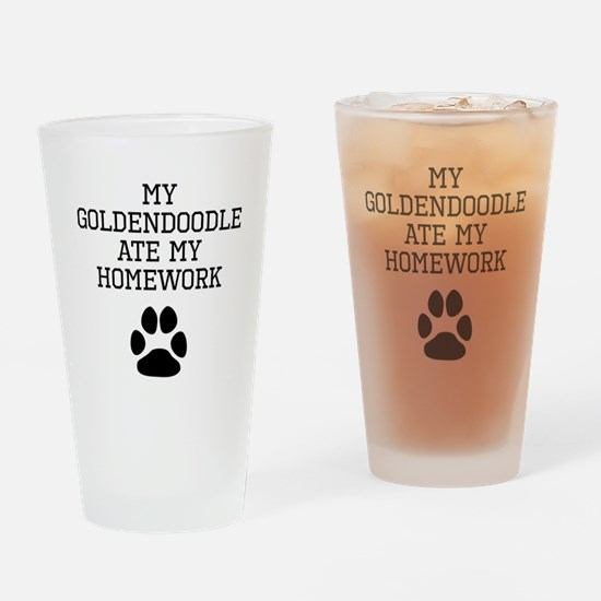 My Goldendoodle Ate My Homework Drinking Glass