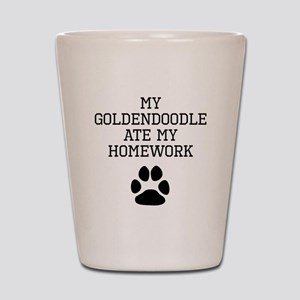 My Goldendoodle Ate My Homework Shot Glass