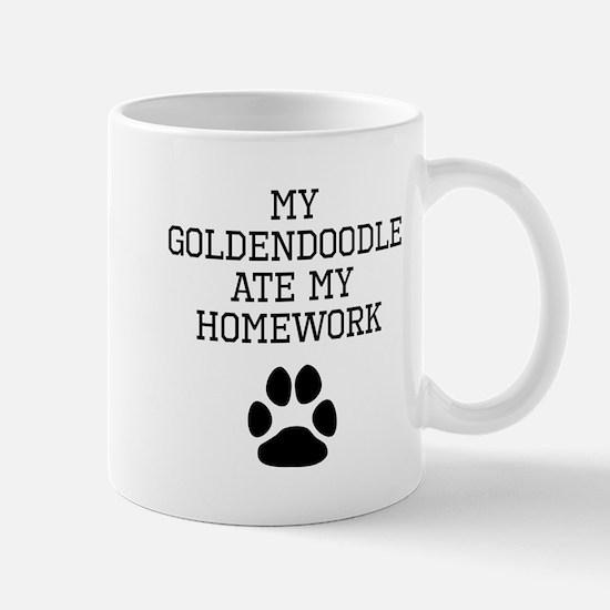 My Goldendoodle Ate My Homework Mugs