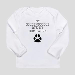 My Goldendoodle Ate My Homework Long Sleeve T-Shir
