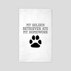My Golden Retriever Ate My Homework Area Rug