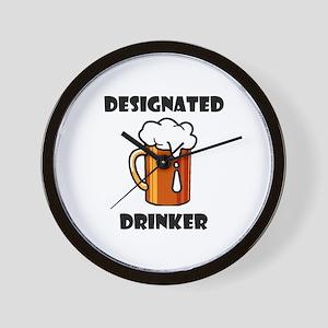 DESIGNATED DRINKER Wall Clock