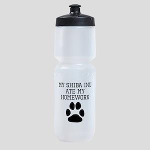 My Shiba Inu Ate My Homework Sports Bottle