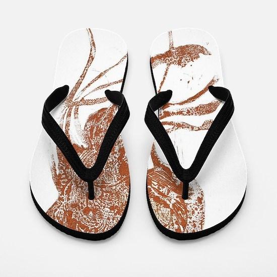 Copper Jellyfish Flip Flops