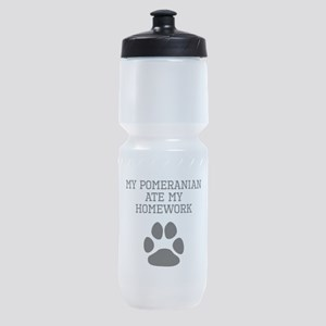My Pomeranian Ate My Homework Sports Bottle