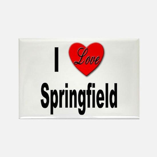 I Love Springfield Rectangle Magnet