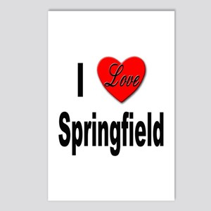 I Love Springfield Postcards (Package of 8)