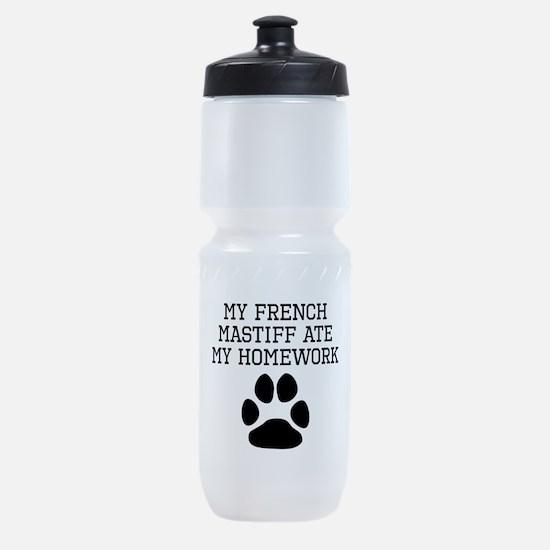 My French Mastiff Ate My Homework Sports Bottle