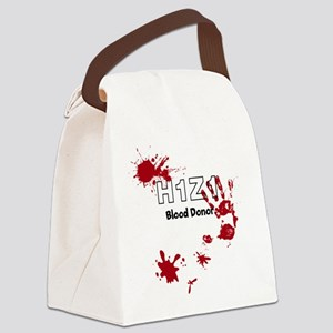 H1Z1 Blood Donor. Canvas Lunch Bag