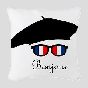 Bonjour Woven Throw Pillow