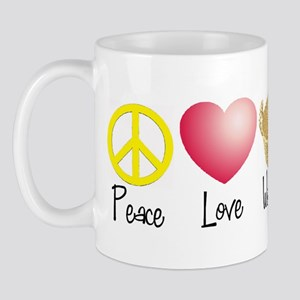 Peace, Love, Weaving Mug