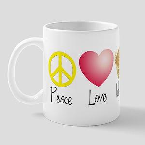 Peace, Love, Weaving Mug