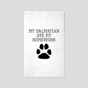 My Dalmatian Ate My Homework Area Rug