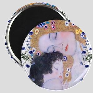 Klimt Art Deco Mother Child Magnet