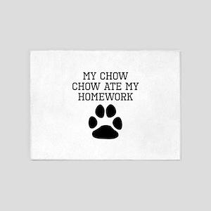 My Chow Chow Ate My Homework 5'x7'Area Rug