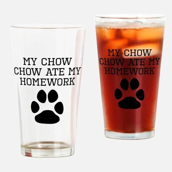 My Chow Chow Ate My Homework Drinking Glass