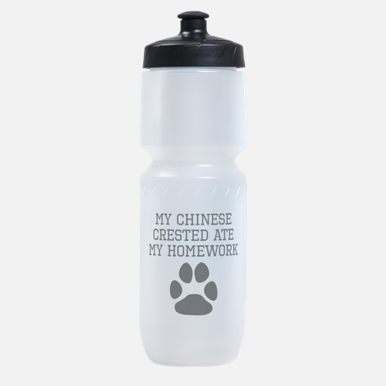 My Chinese Crested Ate My Homework Sports Bottle