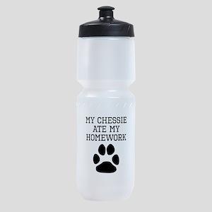 My Chessie Ate My Homework Sports Bottle