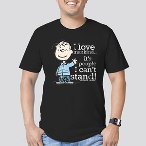 The Peanuts Gang: Linu Men's Fitted T-Shirt (dark)