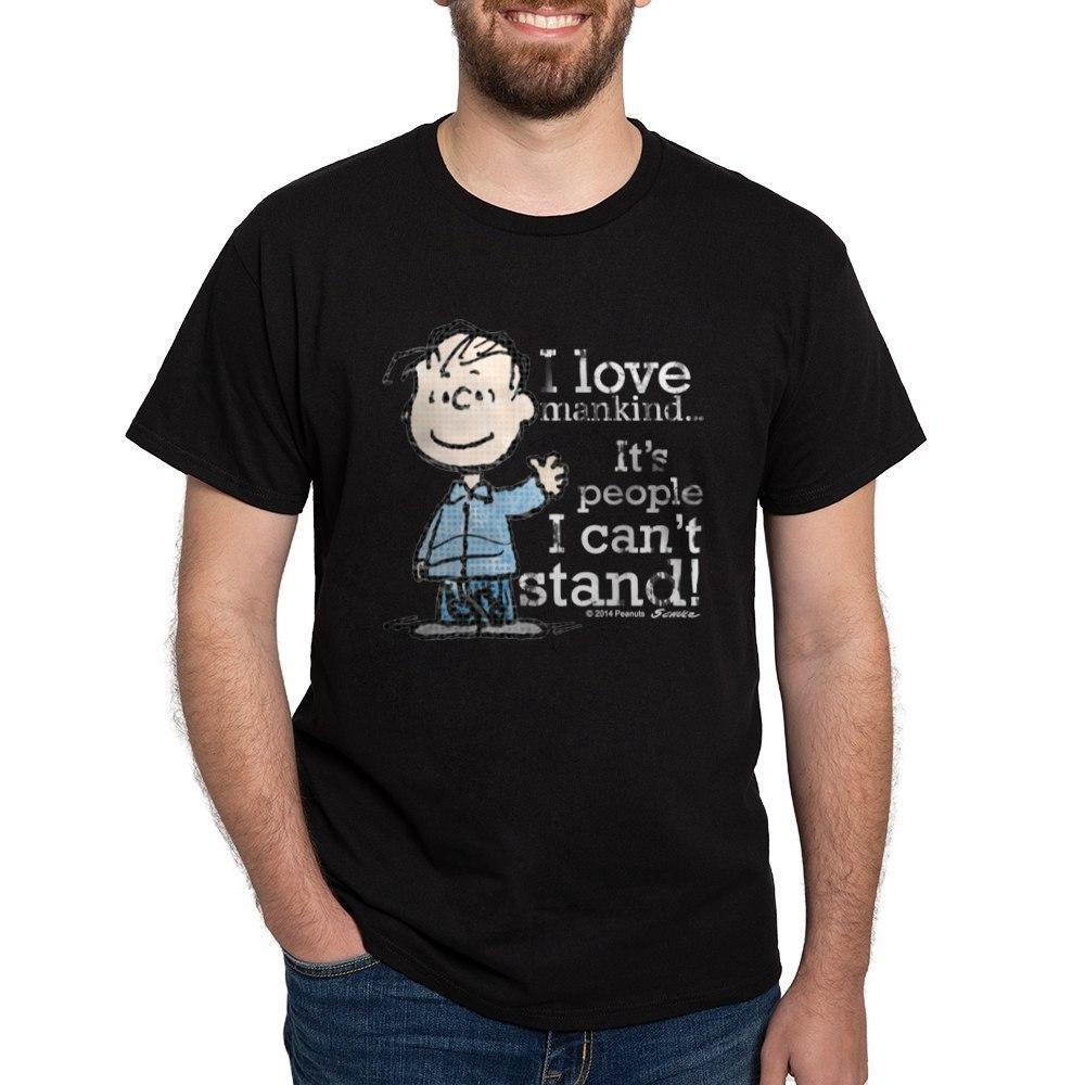 CafePress-The-Peanuts-Gang-Linus-Dark-T-Shirt-100-Cotton-T-Shirt-1487512203 thumbnail 4