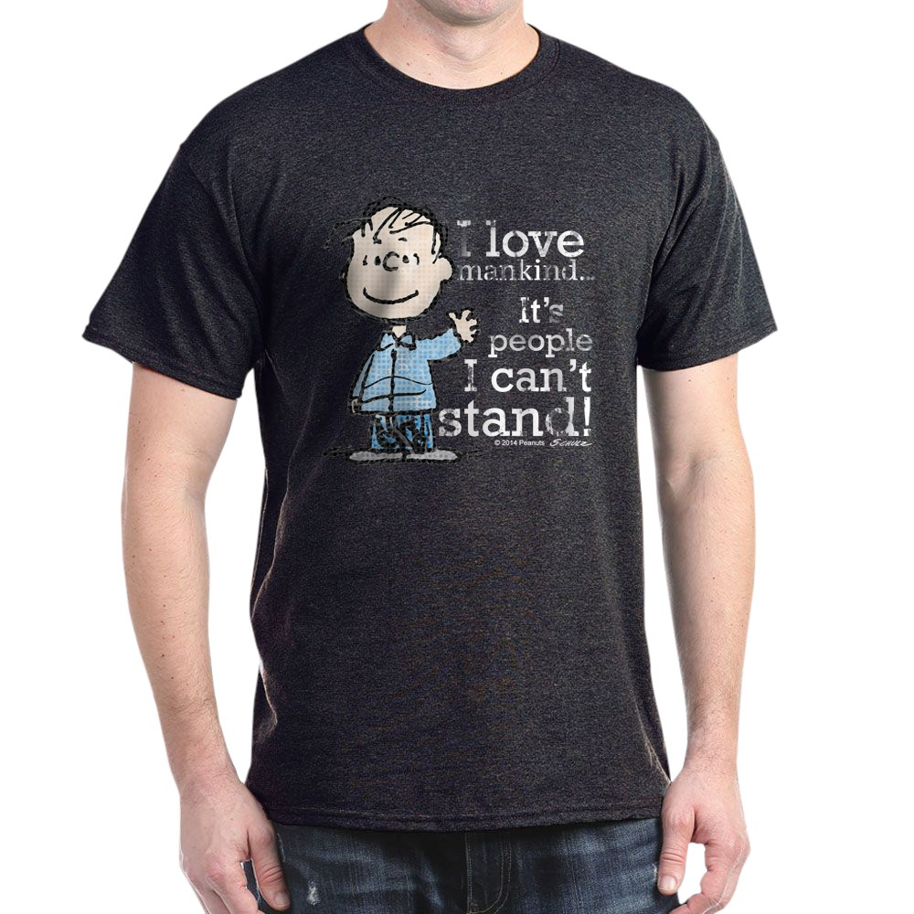 CafePress-The-Peanuts-Gang-Linus-Dark-T-Shirt-100-Cotton-T-Shirt-1487512203 thumbnail 88