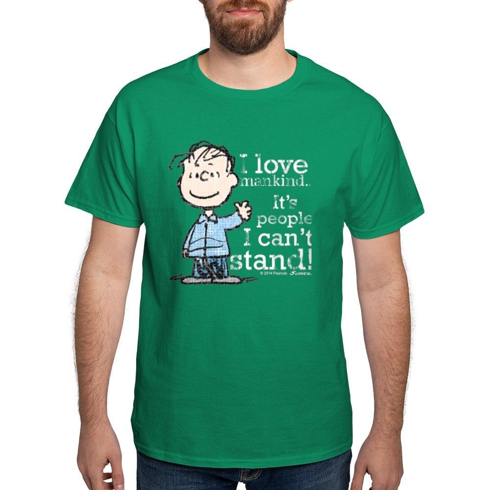 CafePress-The-Peanuts-Gang-Linus-Dark-T-Shirt-100-Cotton-T-Shirt-1487512203 thumbnail 100