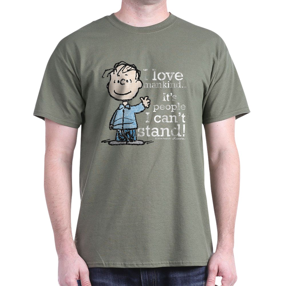 CafePress-The-Peanuts-Gang-Linus-Dark-T-Shirt-100-Cotton-T-Shirt-1487512203 thumbnail 60