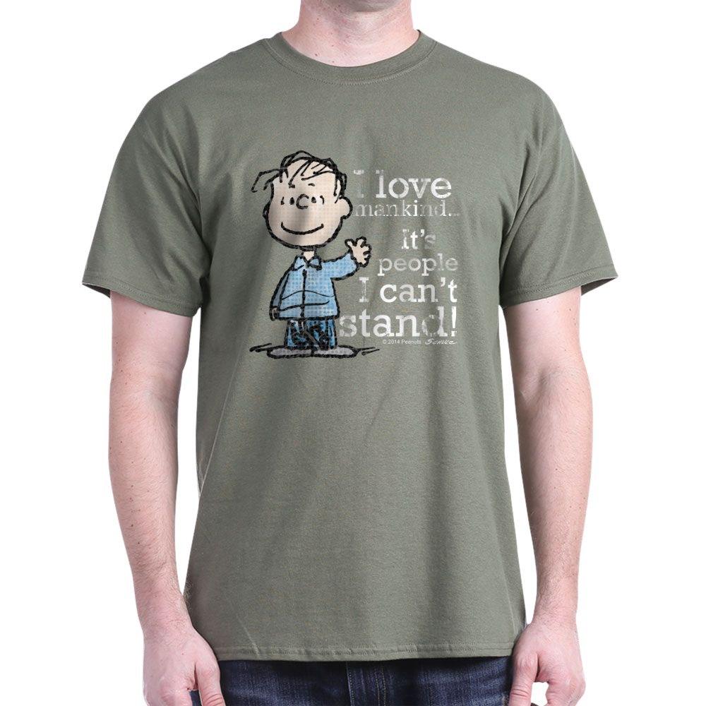 CafePress-The-Peanuts-Gang-Linus-Dark-T-Shirt-100-Cotton-T-Shirt-1487512203 thumbnail 52