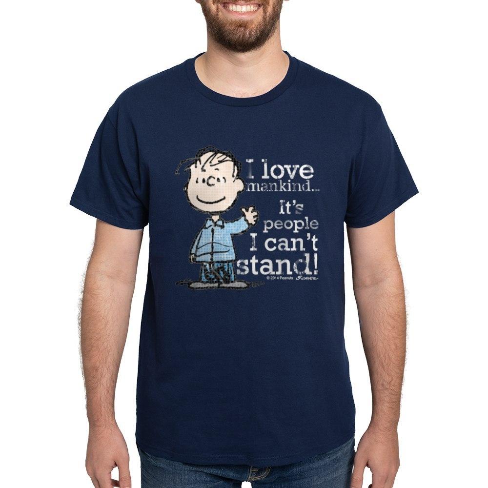 CafePress-The-Peanuts-Gang-Linus-Dark-T-Shirt-100-Cotton-T-Shirt-1487512203 thumbnail 44