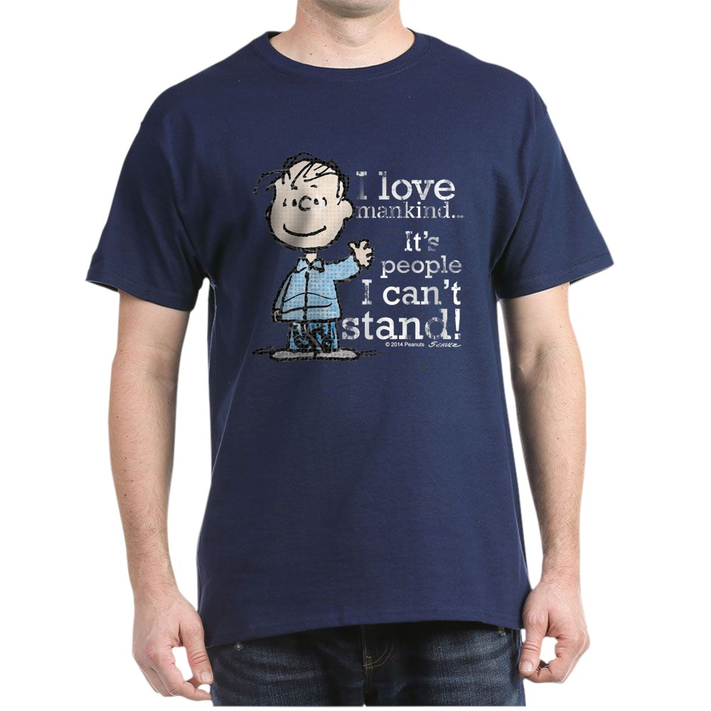 CafePress-The-Peanuts-Gang-Linus-Dark-T-Shirt-100-Cotton-T-Shirt-1487512203 thumbnail 48