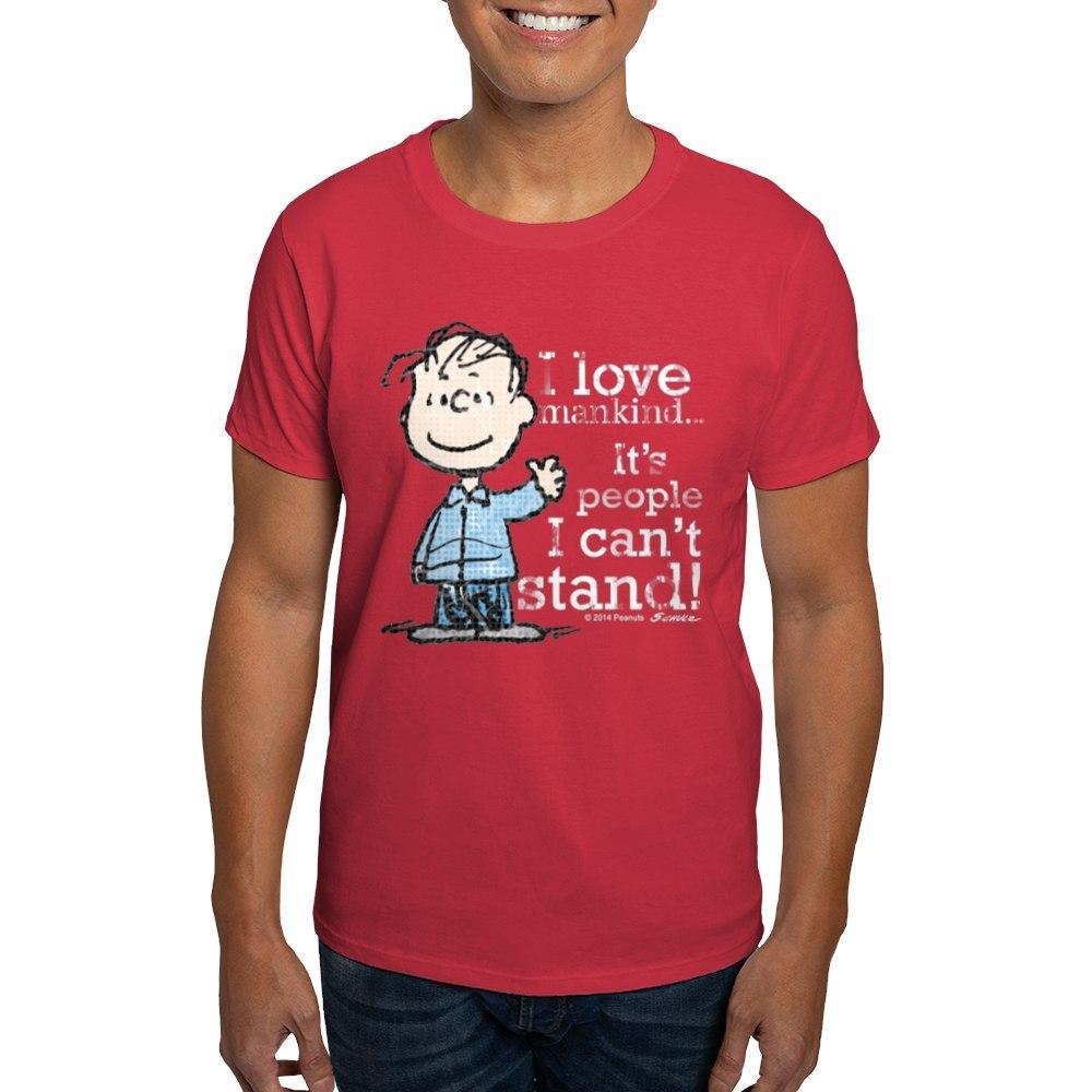 CafePress-The-Peanuts-Gang-Linus-Dark-T-Shirt-100-Cotton-T-Shirt-1487512203 thumbnail 22