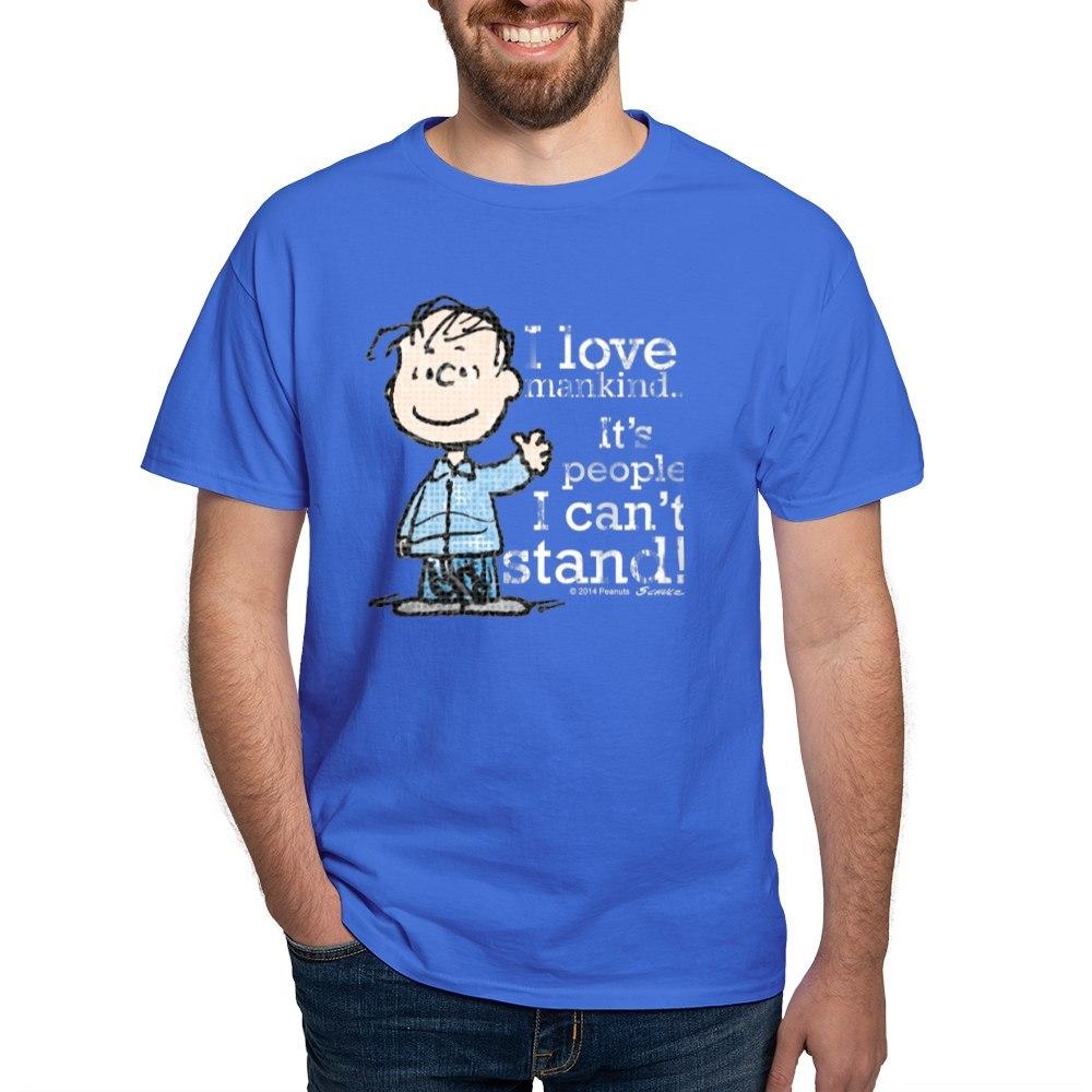 CafePress-The-Peanuts-Gang-Linus-Dark-T-Shirt-100-Cotton-T-Shirt-1487512203 thumbnail 84