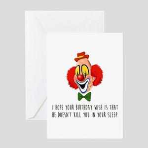 Clown Fears Greeting Cards