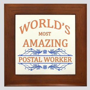 Postal Worker Framed Tile