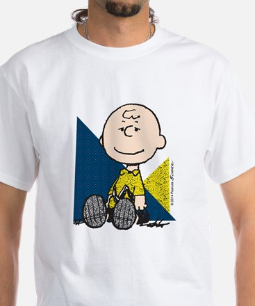 The Peanuts Gang: Charlie Brown White T-Shirt