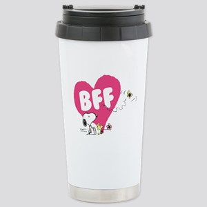Snoopy and Woodstock Stainless Steel Travel Mug