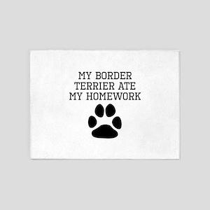 My Border Terrier Ate My Homework 5'x7'Area Rug