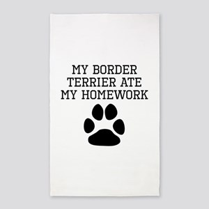 My Border Terrier Ate My Homework Area Rug