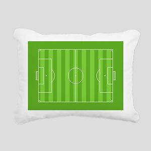 Soccer Field Rectangular Canvas Pillow