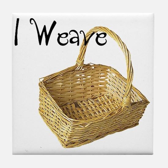 i weave Tile Coaster