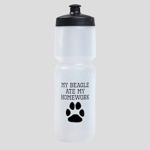 My Beagle Ate My Homework Sports Bottle